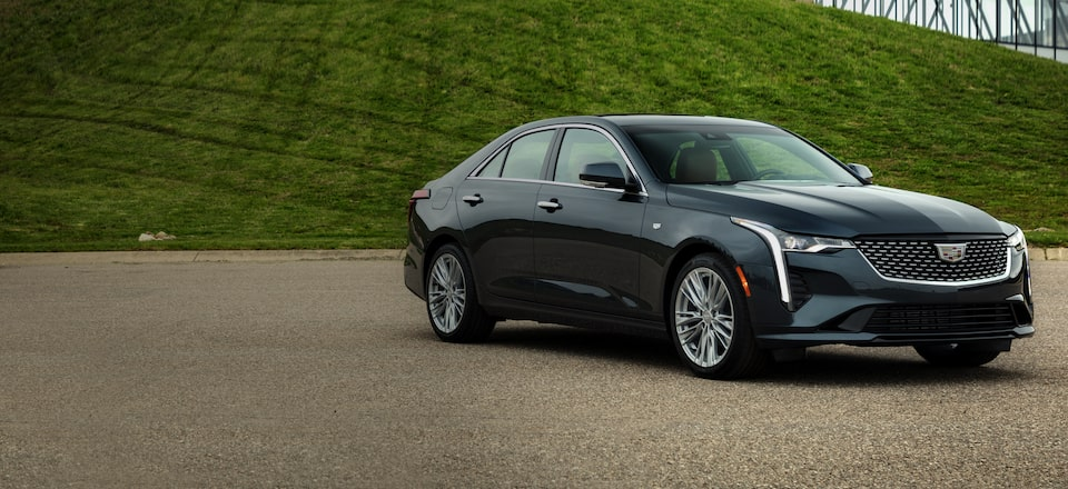Cadillac CT4 Sedan Front Driver Side Angle View