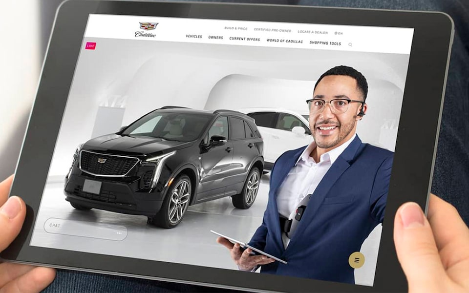 Cadillac Live Viewed On Tablet