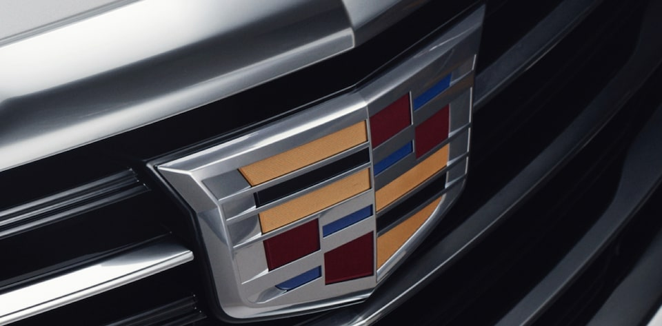 Closeup of Grille with Cadillac Logo