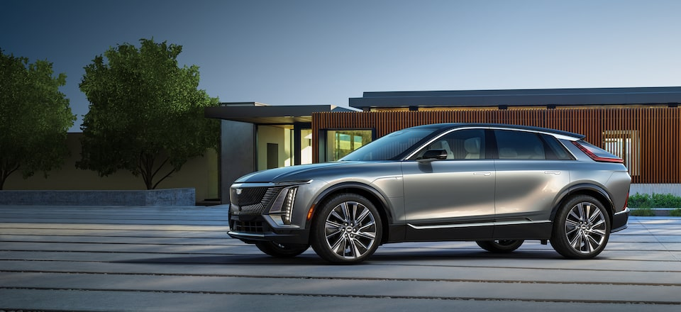 Cadillac LYRIQ First Edition All-Electric SUV Exterior Side View Masthead