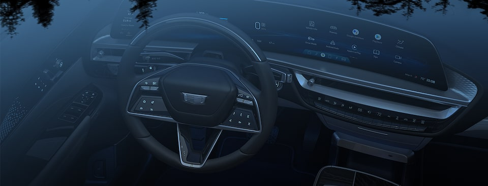 Cadillac LYRIQ First Edition All-Electric SUV Interior Dashboard Technology View