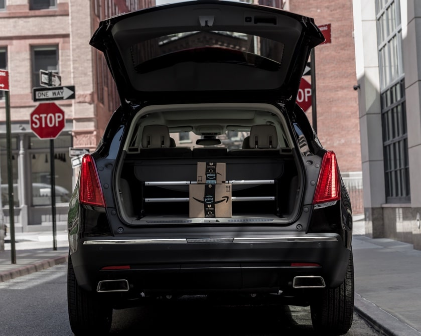 Cadillac Ownership Technology: Amazon Package in Trunk