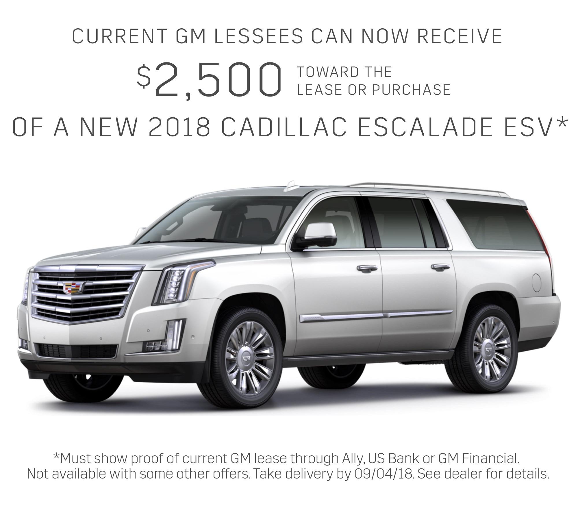 Cadillac Escalade Lease Deals