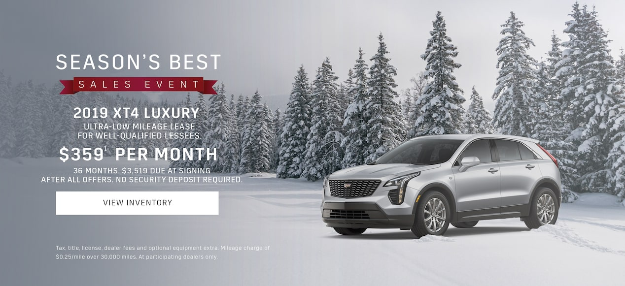 2019 Cadillac XT4 Luxury Crossover Season's Best Sales Event Offers