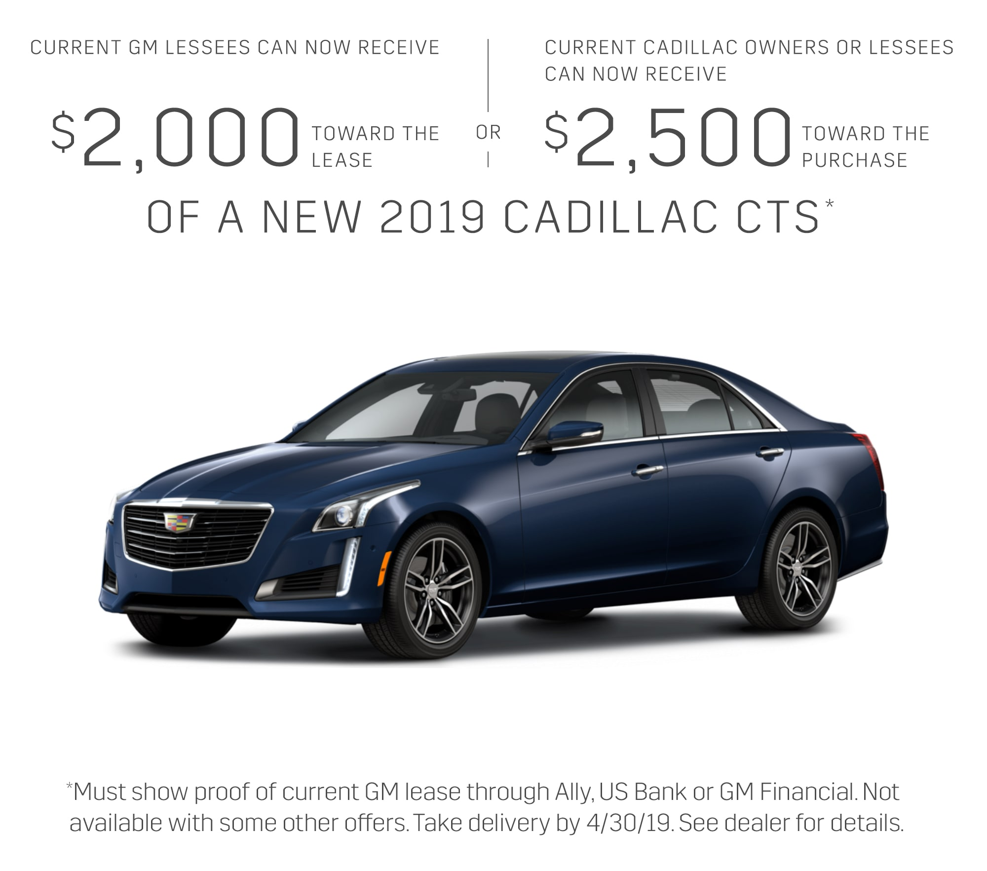 2019 Cadillac Cts Sedan Excluding V Series Standard W 2 0l Turbo Engine