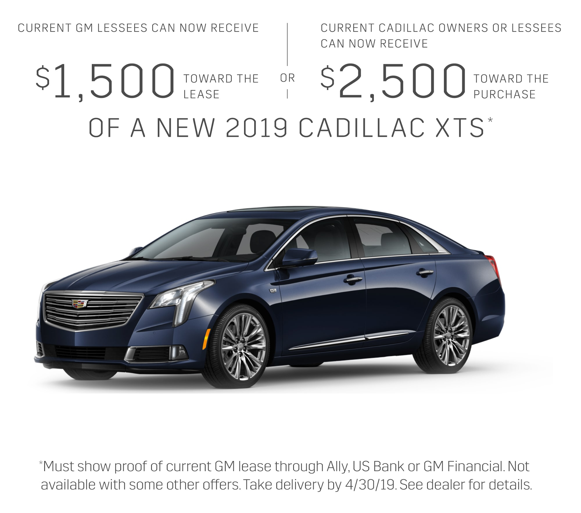 2019 Cadillac Xts: Current Offers & Special Deals