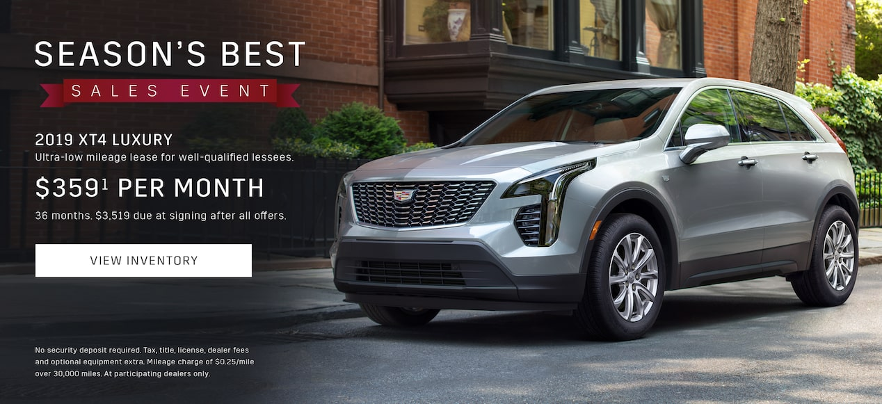 2019 Cadillac Xt4 Luxury Crossover Seasons Best Sales Event Offers