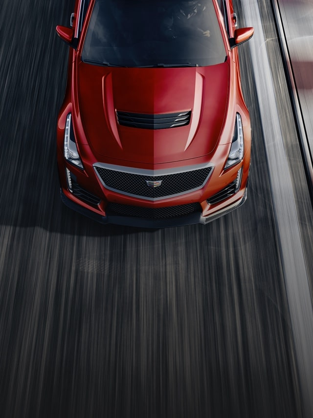 Aerial View Of Cts V Coupe