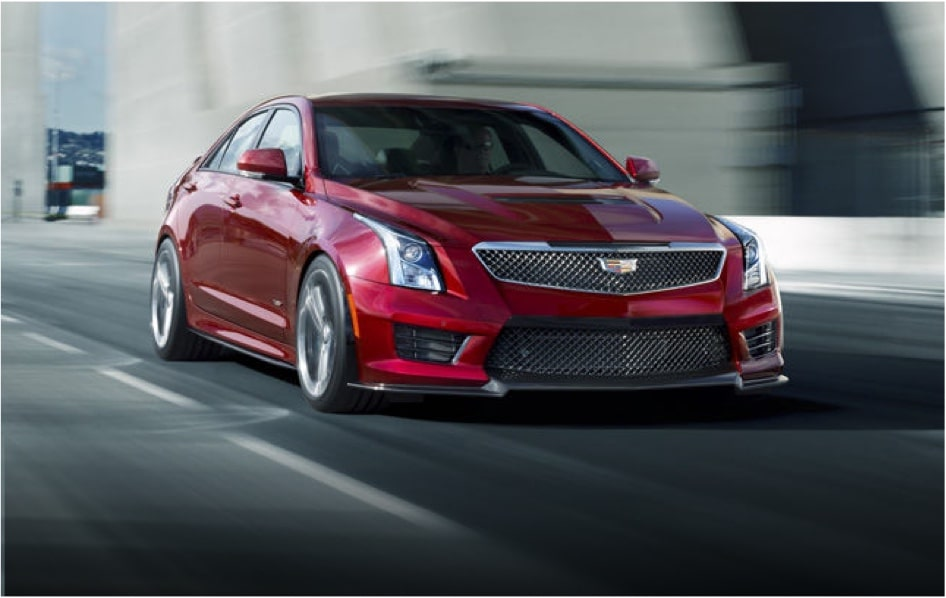 ATS-V Sedan on Race Track