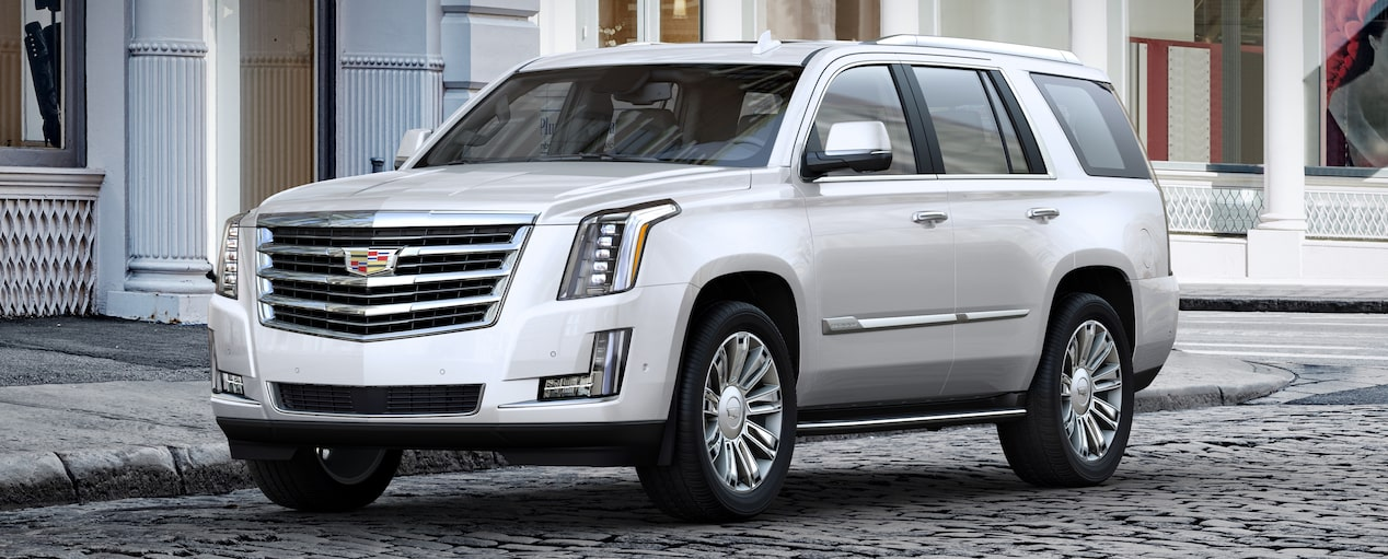Escalade SUV Exterior in Crystal White Tricoat