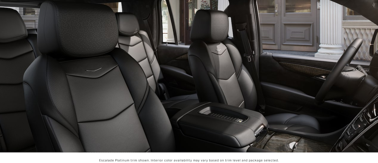 Escalade SUV Front Seats in Jet Black