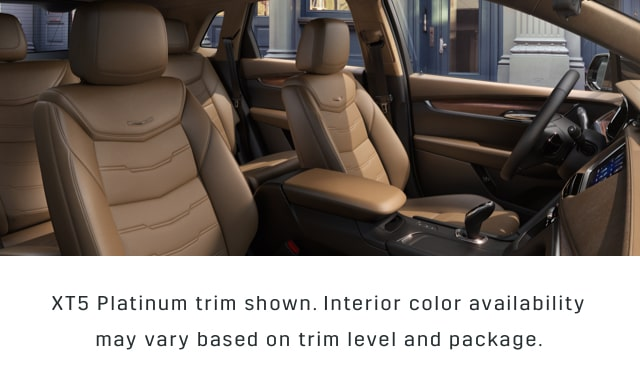 XT5 Crossover Seats in Maple Sugar with Black