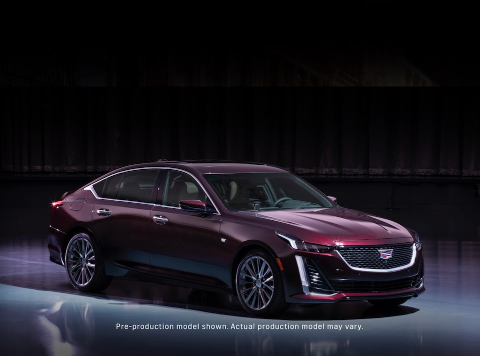 2019 Cadillac CT6 Sedan Front Driver Side View in Satin Steel Metallic