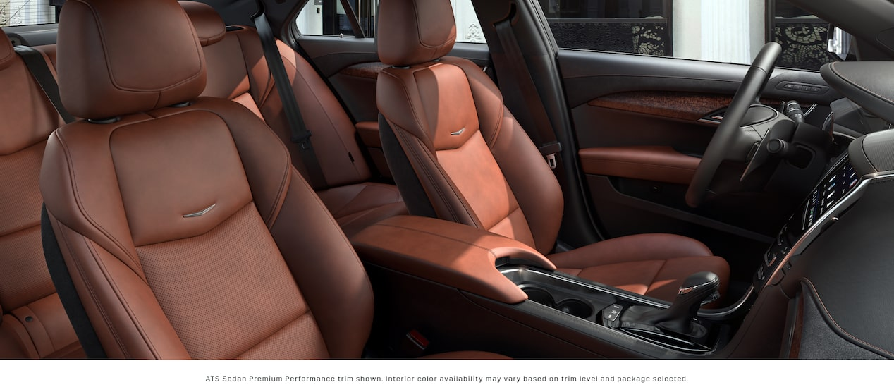 ATS Sedan Seats in Kona Brown with Jet Black