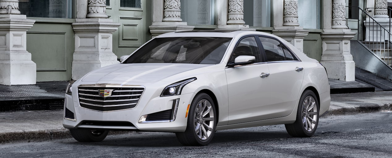 CTS Sedan Exterior in Crystal White Tricoat