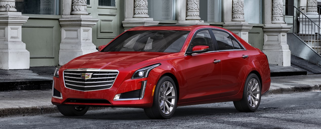 CTS Sedan Exterior in Red Obsession Tintcoat