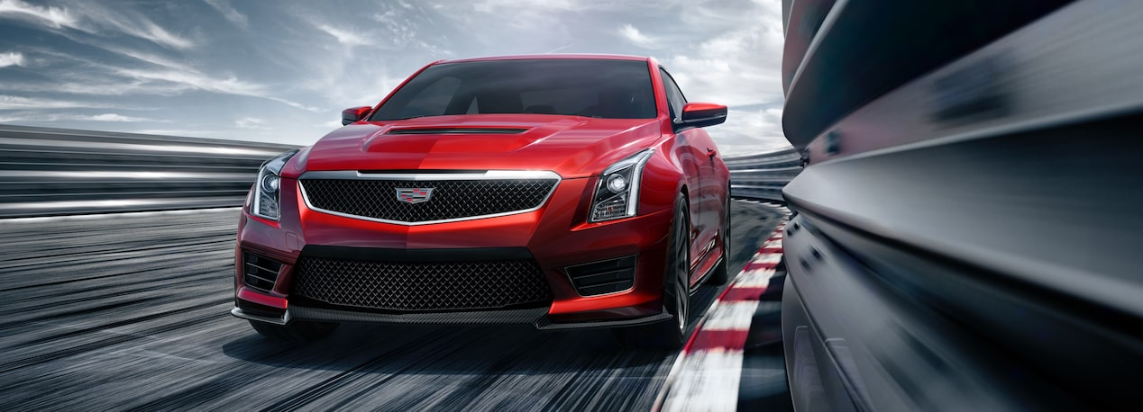 Cadillac ATS-V Coupe on Race Track