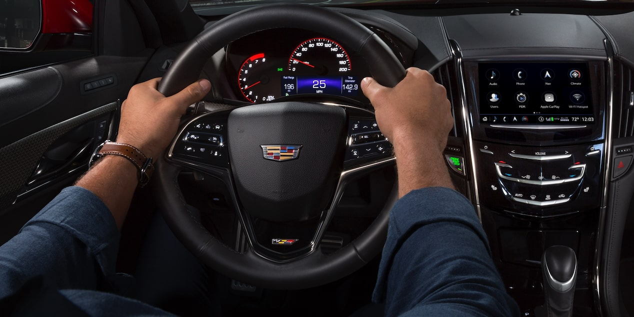 ATS-V Coupe Dashboard and Steering Wheel