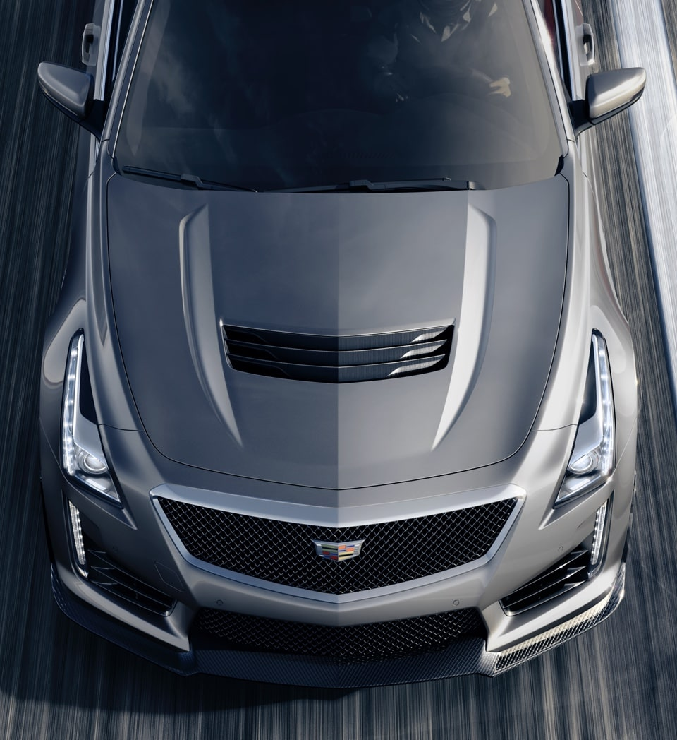 Aerial View of CTS-V Sedan
