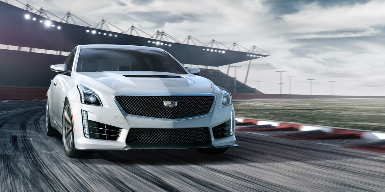 Cadillac CTS-V Sedan on Race Track