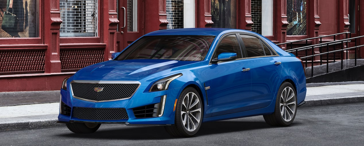 CTS-V Exterior in Vector Blue Metallic