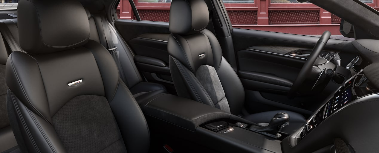 CTS-V Front Seats in Jet Black Semi-Aniline