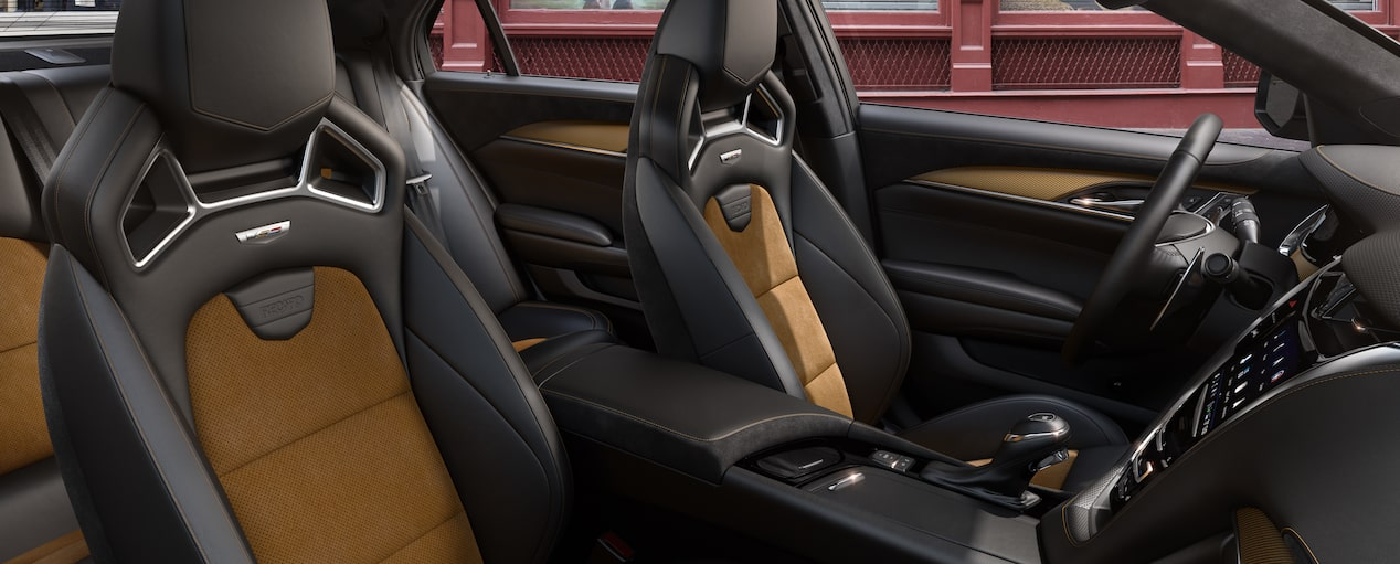 CTS-V Recaro Front Seats in Jet Black with Saffron