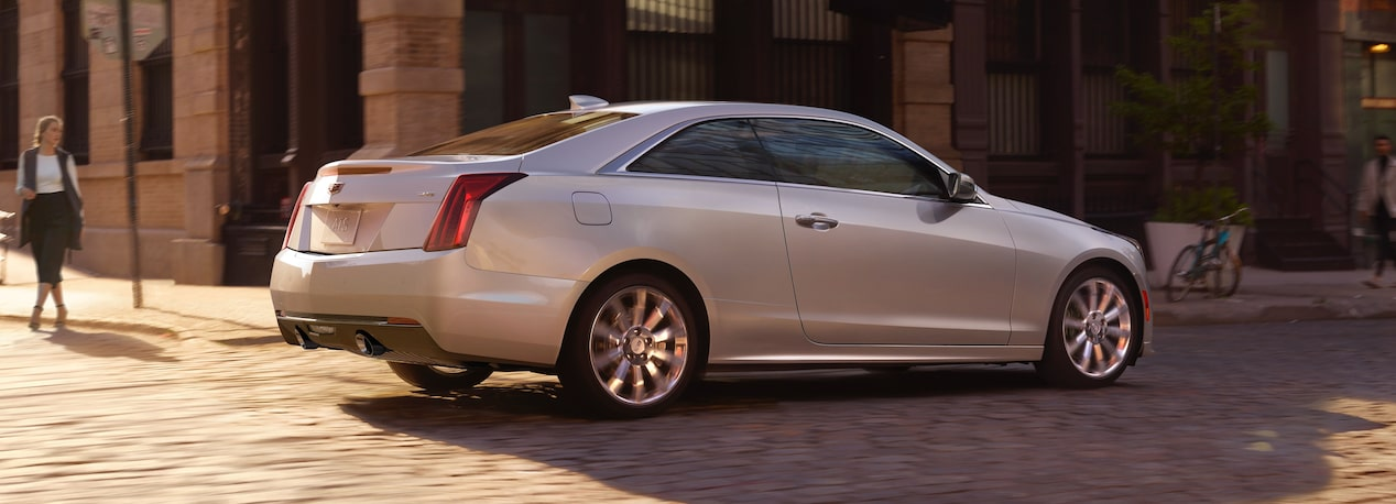 Aerial View of Cadillac ATS Coupe