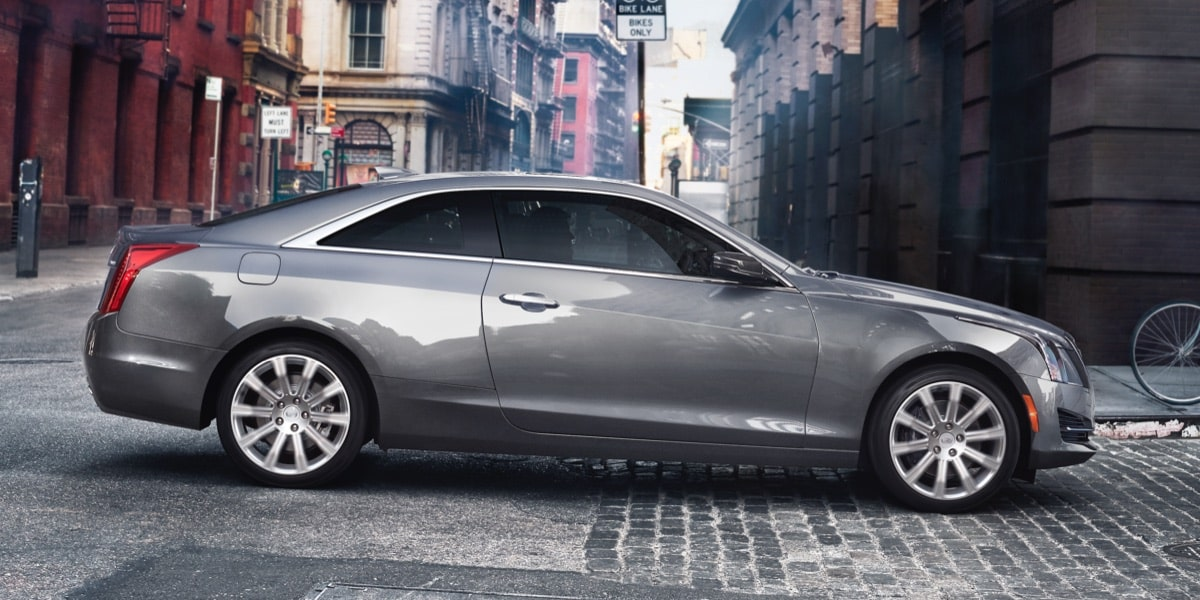 Side View of Cadillac ATS Coupe