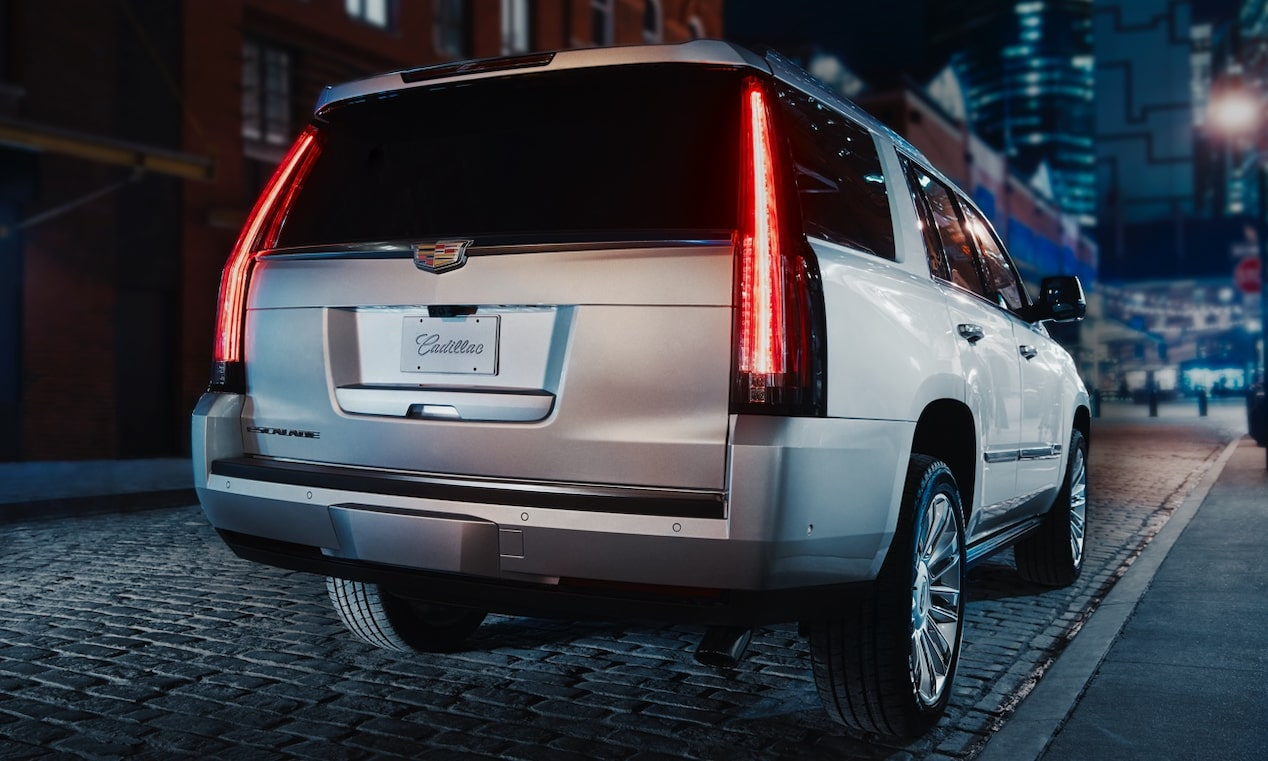 Rear of Escalade SUV