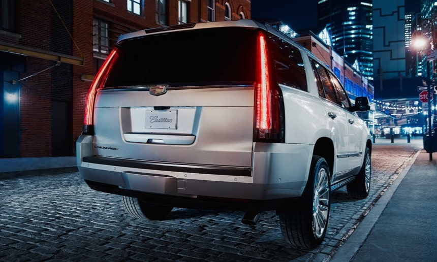 Rear of 2019 Escalade SUV