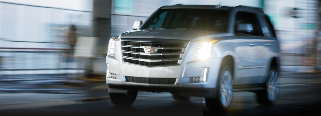 Front View of Escalade Driving