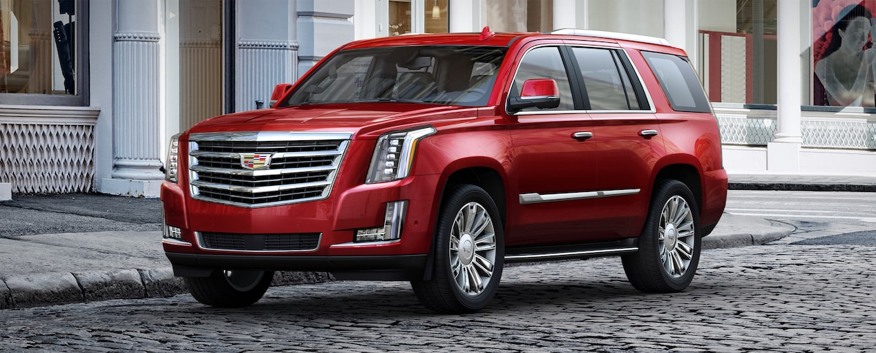 Escalade SUV Exterior in Red Passion Tintcoat
