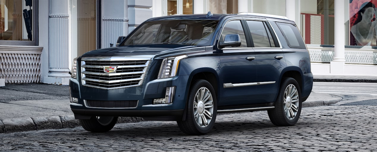 Escalade Suv Exterior In Dark Adriatic Blue Metallic