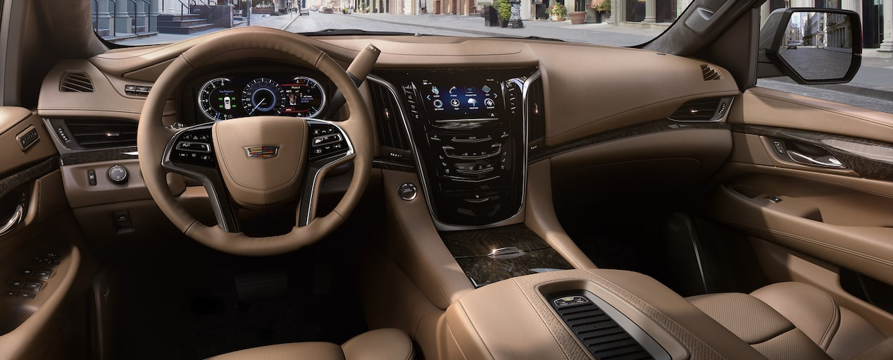Escalade SUV Interior in Maple Sugar with Jet Black