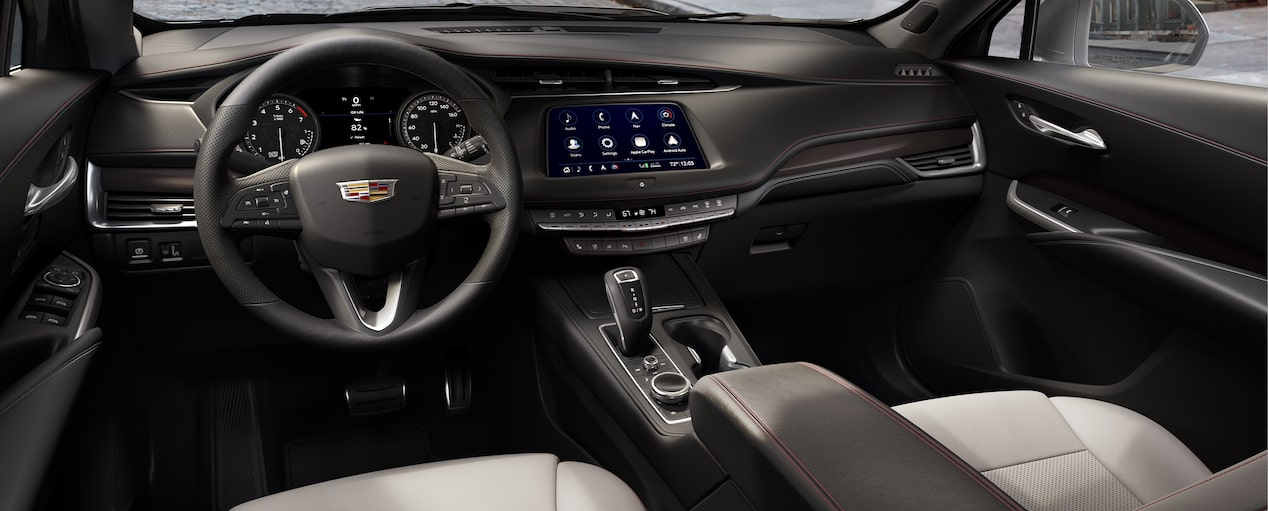 XT4 Crossover Interior in Light Wheat Jet Black with Red