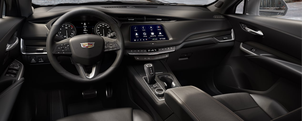 XT4 Crossover Interior in Jet Black Leatherette with Cinnamon