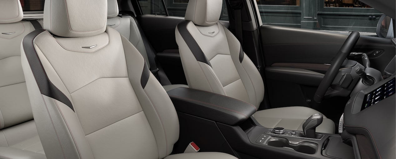 XT4 Crossover Seats in Light Wheat Jet Black Leatherette with Red
