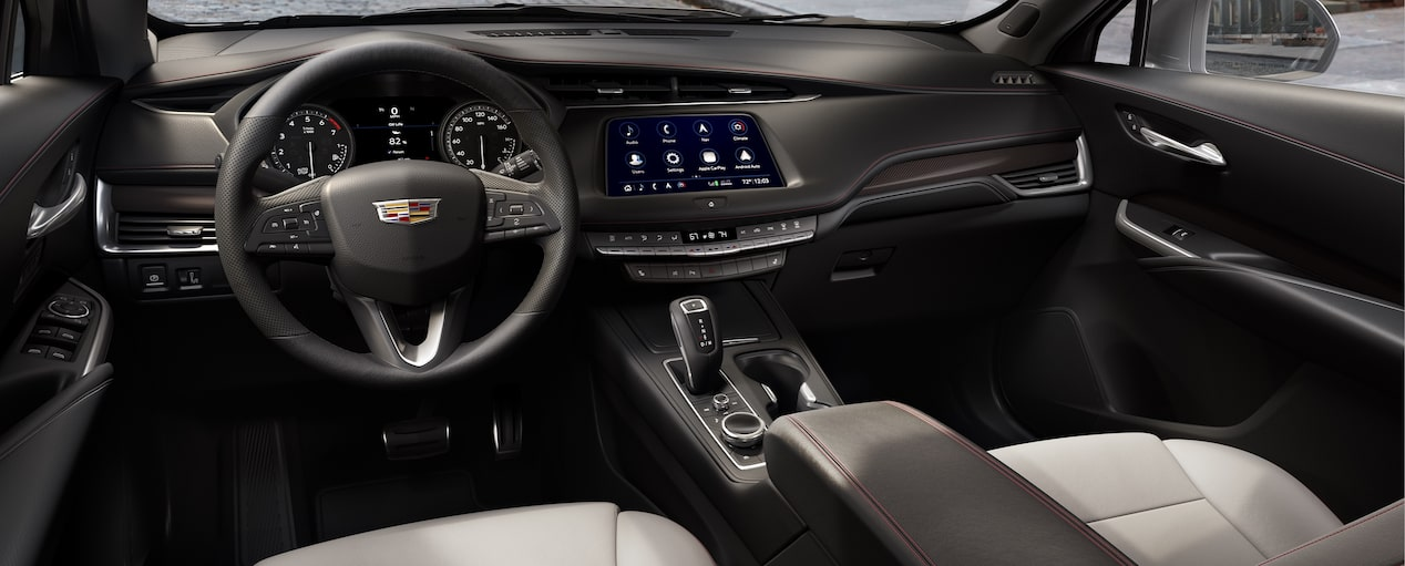 XT4 Crossover Interior in Light Wheat Jet Black Leatherette with Red