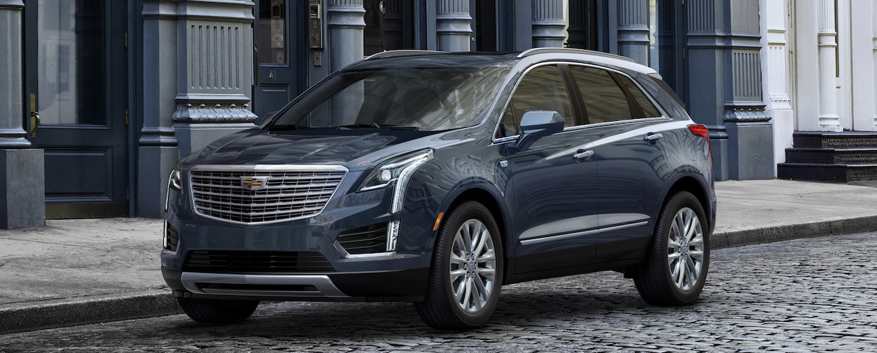 XT5 Crossover Exterior in Harbor Blue Metallic