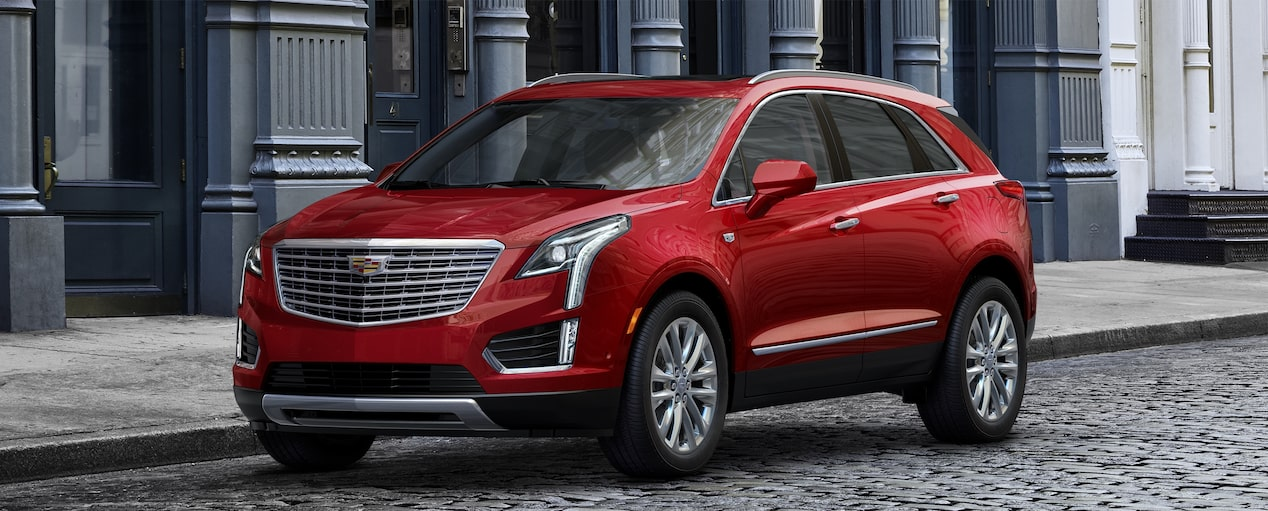 XT5 Crossover Exterior in Red Horizon Tintcoat