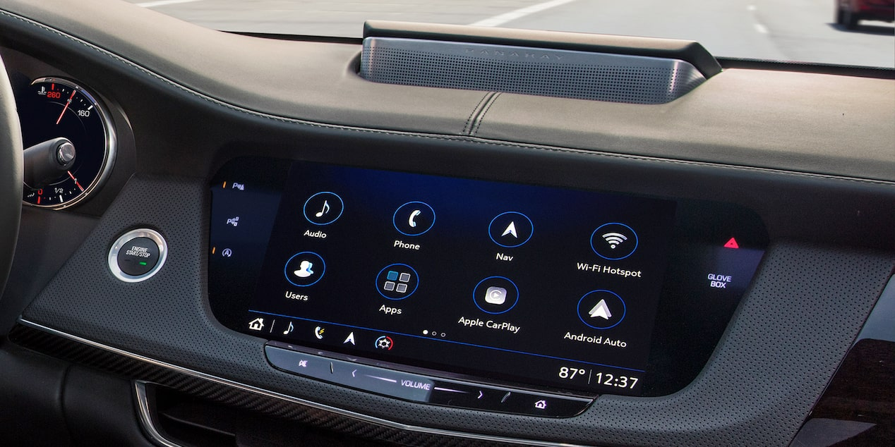 2019 CT6 Sedan Interior Photo:  Color Touch Screen Radio