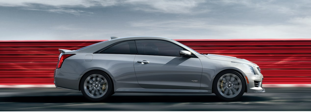 Side View of ATS-V Coupe on Track