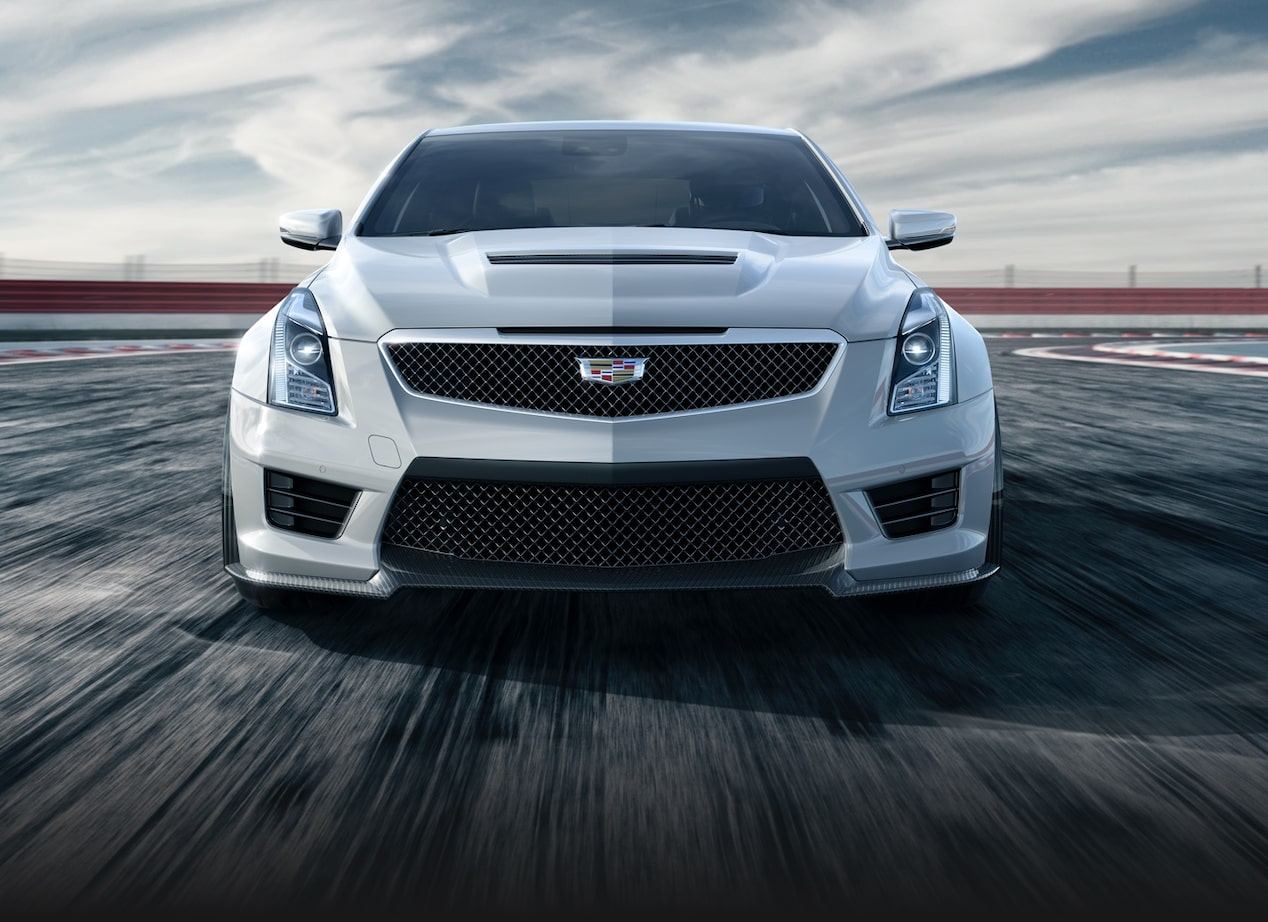 Front View of ATS-V Coupe on Race Track