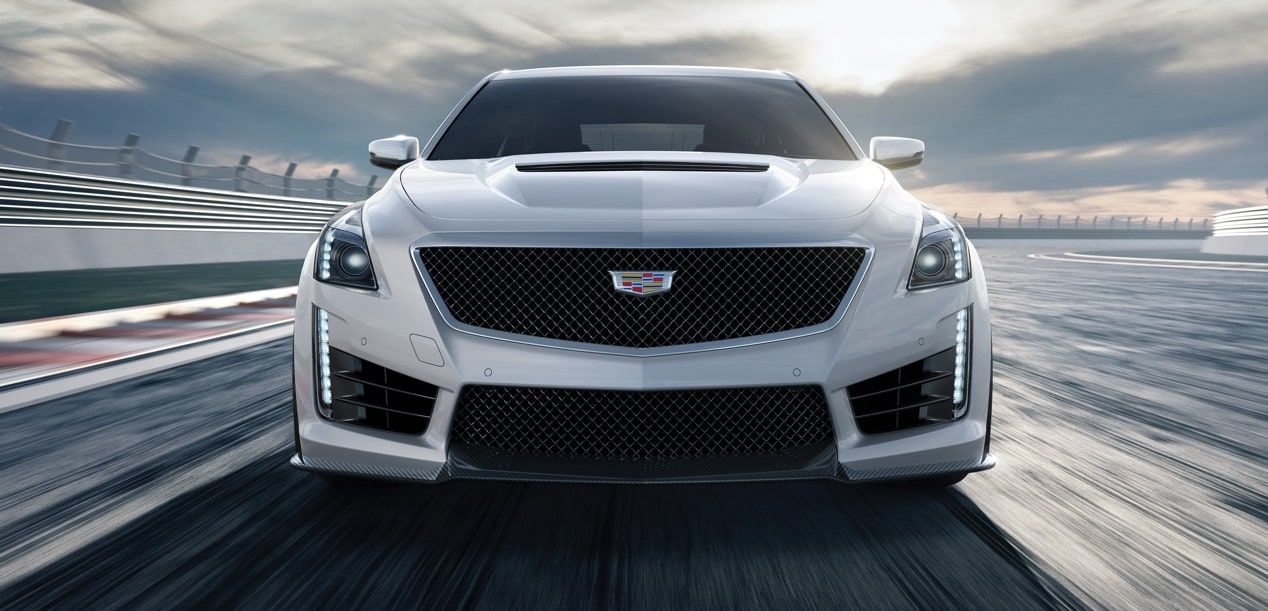 Front View of CTS-V on Race Track