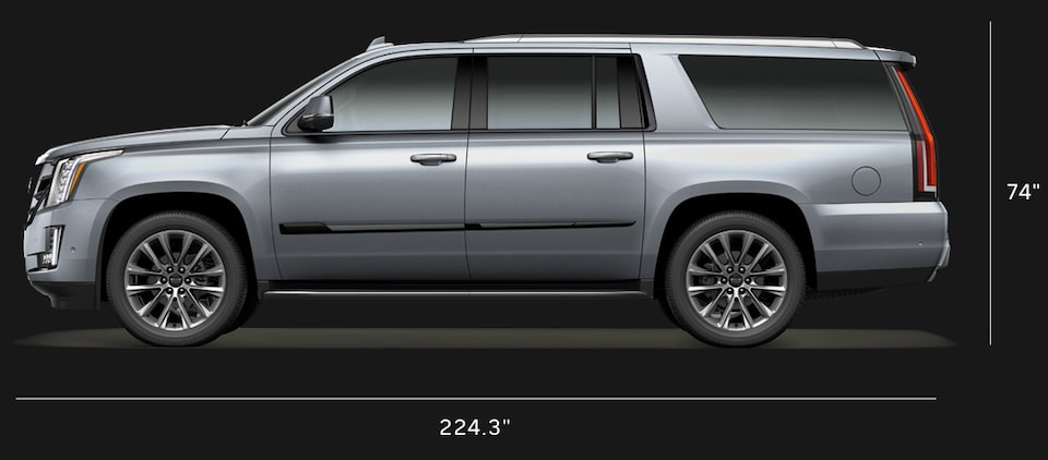 Diagram of 2020 Cadillac Escalade ESV Full-Size SUV Specs