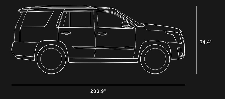 Diagram of 2020 Cadillac Escalade Full-Size SUV Specs