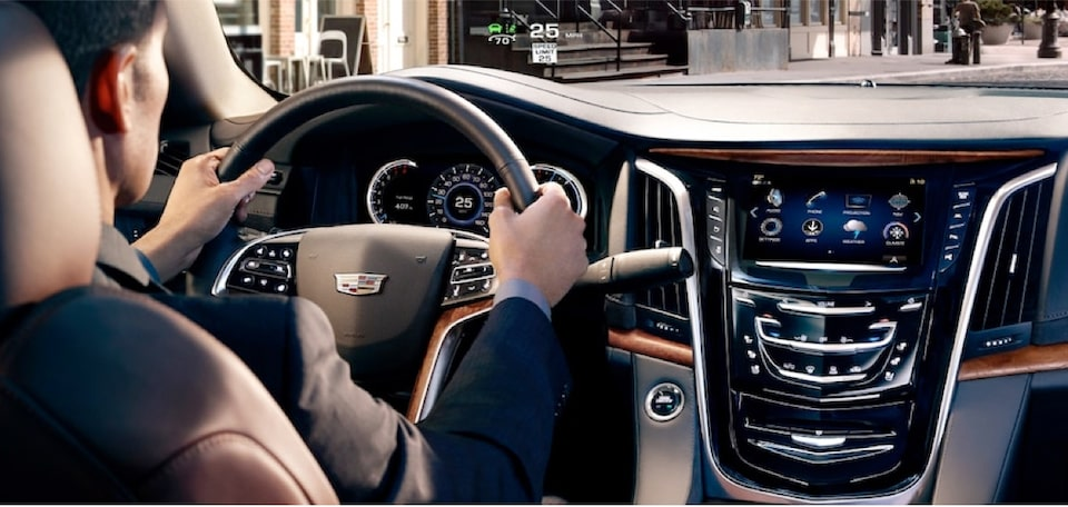 2020 Cadillac Escalade Full-Size SUV Hands on Steering Wheel