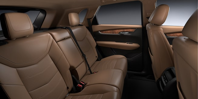 Cadillac XT5 Crossover tan interior back seats gallery image