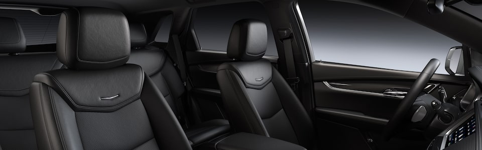 Cadillac XT5 Crossover interior seats in black